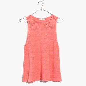 Madewell Sunsetter Sweater Tank in Pink, Sz L